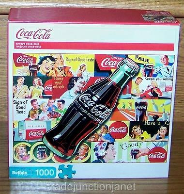 "NIB 2010 USA COCA-COLA ""ALWAYS COCA-COLA"" 1000 pc BUFFALO JIGSAW PUZZLE w/POSTER"