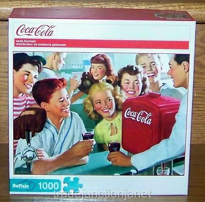 "NIB 2011 USA COCA-COLA ""SODA FOUNTAIN"" 1000 pc BUFFALO JIGSAW PUZZLE w/POSTER"