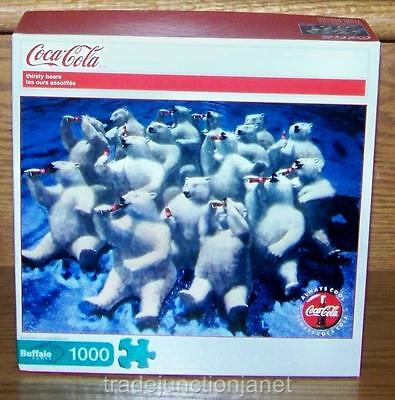 "NIB 2011 USA COCA-COLA ""THIRSTY BEARS"" 1000 pc BUFFALO JIGSAW PUZZLE w/POSTER"