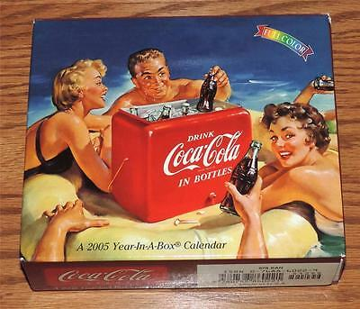 NOS USA 2005 Coca-Cola Year-In-A-Box Calendar - Many different adv pictures