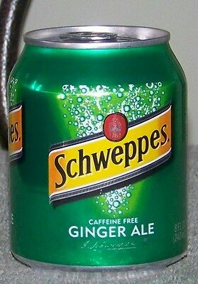 NM 2008 USA SCHWEPPES CAFFEINE FREE GINGER ALE 8oz 237mL MINI FULL SHORT CAN