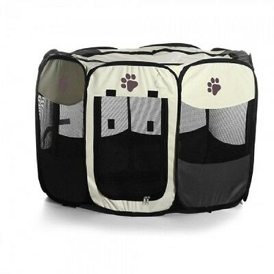 Foldable Puppy Cage Portable 8 Panel Pet Dog Cat Playpen Run Tent Fence