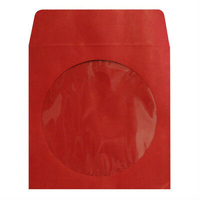 500 Red Color CD DVD Paper Sleeve Envelopes