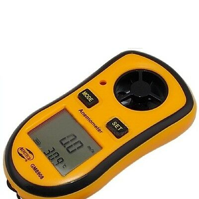 Handheld Lcd Digital Anemometer Air Wind Speed Meter Tester Orange