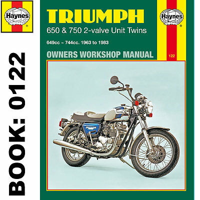 triumph 650 750 2 valve unit twins thunderbird bonneville 1963 83 rh picclick co uk triumph thunderbird 900 repair manual Triumph Thunderbird 900 Cafe Racer