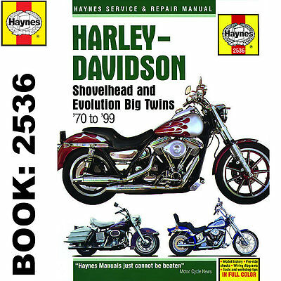 Harley-Davidson Shovelhead Evolution Big Twins 1970-99 Haynes Workshop Manual