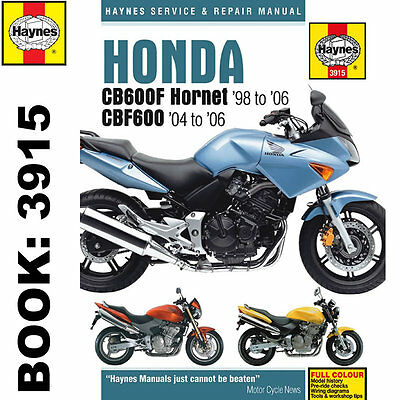 Honda CB600F Hornet CBF600 1998-2006 Haynes Workshop Manual