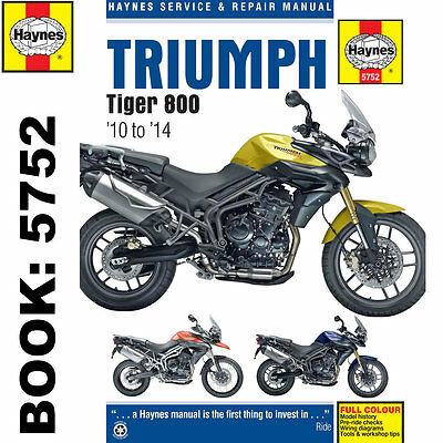 Triumph Tiger 800 inc XC 2010-14 Haynes Workshop Manual