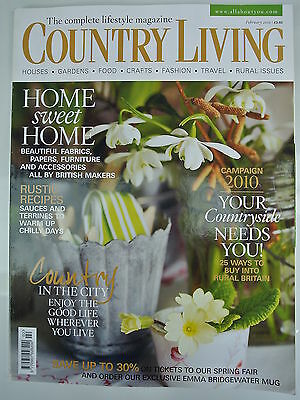 Country Living Magazine. February, 2010. Issue No. 290. Home sweet Home.