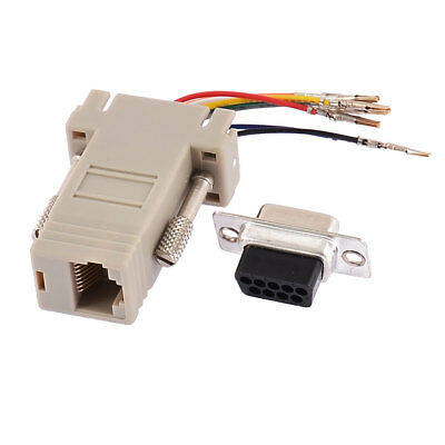 Data Communication Converter RS232 DB9 Male To RJ45 Female Adapter