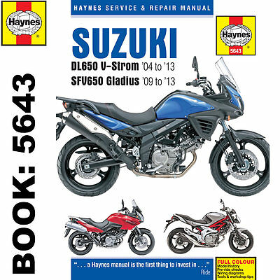 Suzuki DL650 V-Storm SFV650 Gladius 2004-13 Haynes Workshop Manual