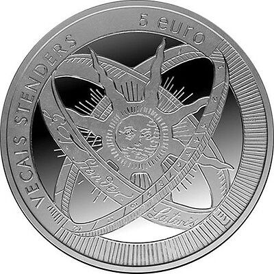 """2014 Latvia 5 Euro Silver Proof Coin """"Old Stenders 300 Years"""""""