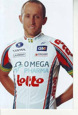 CYCLISME repro PHOTO cycliste MATTHEW LLOYD équipe OMEGA PHARMA LOTTO 2010
