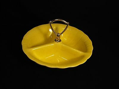 Lane & Co. Divided Center Handle California Pottery Nut Candy Relish Server Dish