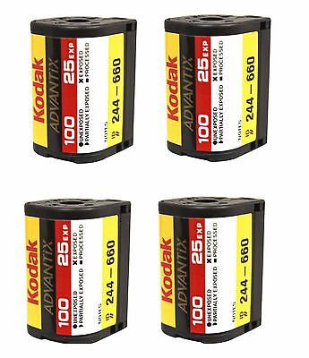 4 Rolls Kodak Advantix Film APS 100 25 EXP C-41 100 ISO IX Bulk 100% Guarantee
