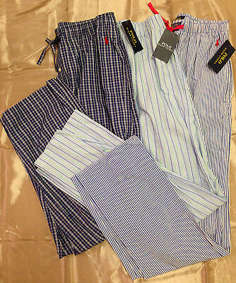 NWT Polo Ralph Lauren Men's Cotton Plaid Striped Pajama Pants Size S M L XL $42
