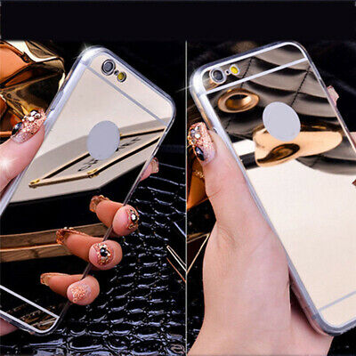 Luxury Ultra Thin Aluminum Mirror Metal Case Cover for iPhone SE 5 6 6s 7 8 X 10