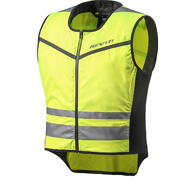 Rev It Athos 2 Hi-Vis Motorcycle Motorbike Over Vest Lightweight Reflective Bike