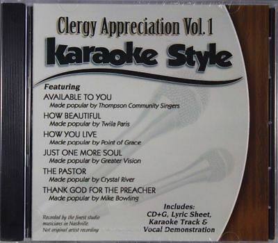 Clergy Appreciation Volume 1 Christian Karaoke Style NEW CD+G Daywind 6 Songs