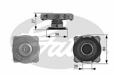 GATES RC129 Radiator Cap