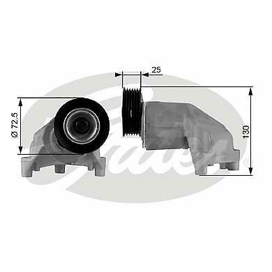 CAFFARO V-RIBBED BELT TENSIONER PULLEY 500160 P NEW OE REPLACEMENT