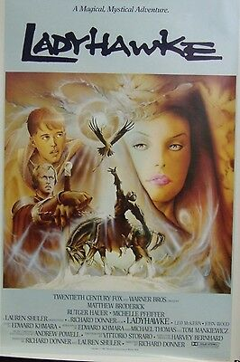 Ladyhawke Original Single Sided Movie Poster Matthew Broderick Rutger Hauer
