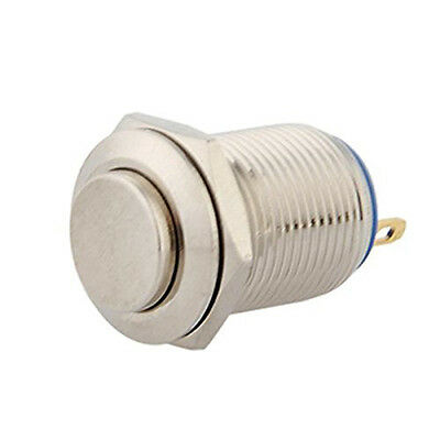Diy Durable 12Mm 12V Momentary Push Button Metal Switch For Car