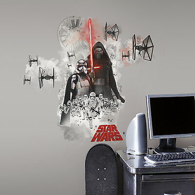 New Giant STAR WARS THE FORCE AWAKENS VILLAINS WALL DECALS Stickers Room Decor