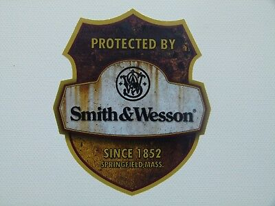 NEW Rusty Smith & Wesson protected Oldschool Warnung Aufkleber Sticker Auto USA