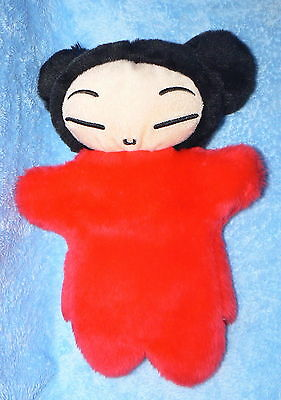 "Anime Pucca Love Hand Puppet Htf Soft Plush 12"" Red Asian Chinese Japan Doll"