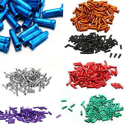 100pcs Aluminum Bike Bicycle Brake Shifter Inner Cable Tips Wire End Cap Crimps
