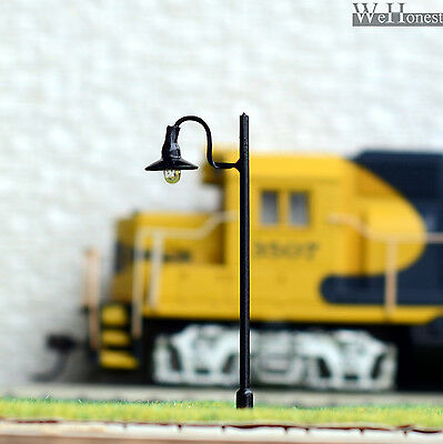 15 pcs HO or OO scale Model Lamppost 12V street light Metal Lamp #605