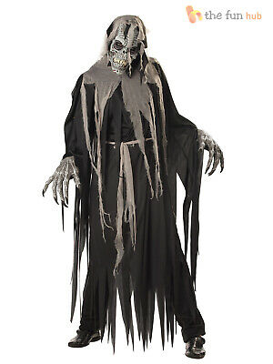 Mens Ride On Grim Reaper Zombie Costume Piggy Back Fancy Dress Halloween Outfit