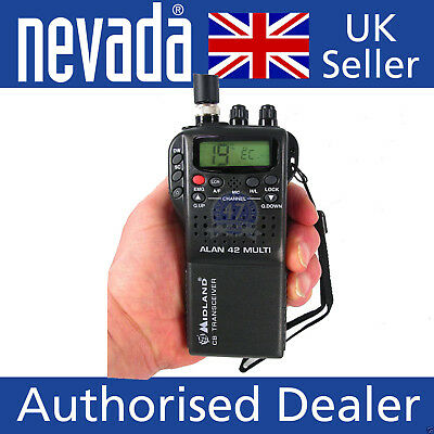 Midland 42 - our top selling handheld CB radio - Latest UK Version LOWER PRICE