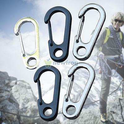 5Pcs Snap Key Chain Keychain Clip Carabiner Outdoor Buckle Split D-Ring Hook HOT