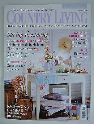 Country Living Magazine. April, 2005. Issue No. 232. Spring dreaming. Outdoor Ch