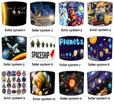 Outer Space Lampshades Ideal To Match Outer Space Aliens Wallpaper, NASA Rockets