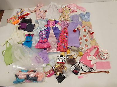 Lot of Barbie Clothing outfits and miscellaneous accessories shoes purses animal