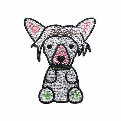 Chinese Crested Rhinestone Decal Sticker