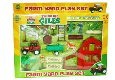 Kids Farm Set Plastic Toy PlaySet Animals Tractor Figures Childrens Gift 3+ New
