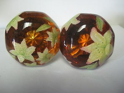 Antique Door Knobs -..amber Lime Work- Tested And Proven 20 Year Top Coat