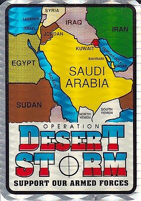 """Rare 1991 Sticker Decal """"operation Desert Storm - Support Our Armed Forces"""" #2"""