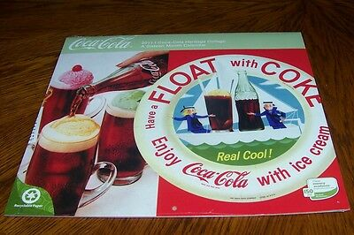 New 2011 Coca-Cola 16-Month Heritage Collage Calendar - Factory Sealed