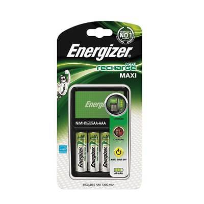 Energizer Maxi AA AAA Battery Charger Incl 4 x AA 1300mAh Rechargeable Batteries
