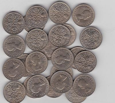 24 x SIXPENCES 1965 QUEEN ELIZABETH II IN NEAR MINT CONDITION