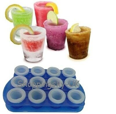 Ice Shot Plastic Drink Glass Mould Tray Freeze Cube Maker Set Top Choice 34264
