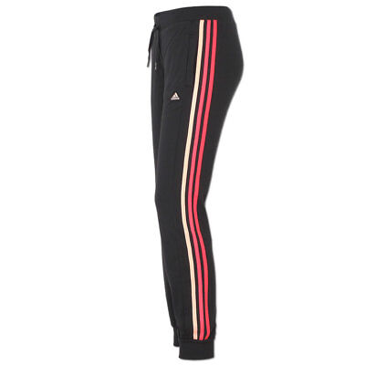 adidas Damen Essentials Hose Trainingshose Jogginghose Climalite Cotton schwarz