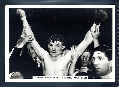 Ardath Photocard Topical Interest-Boxing Champ Tommy Farr-After Beating Max Baer