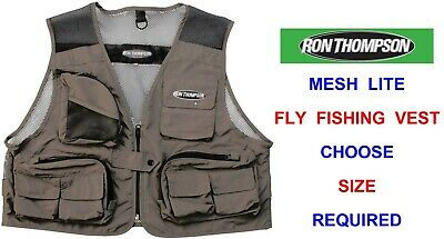 Ron Thompson Mesh Lite Fly Vest Waistcoat Wading Trout Fly Rod Fishing Jacket