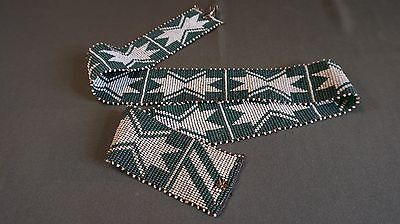 Very Fine Late 1800 Native American Beaded Loom Woven Belt